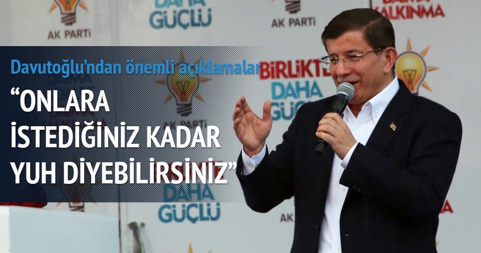 Davutoğlu engelli gence cevabı mitinge damgasını vurdu