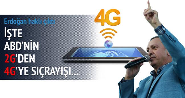 ABD 2G'den 4G'ye geçti!