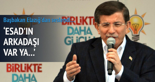 Başbakan Davutoğlu Elazığ'da konuştu