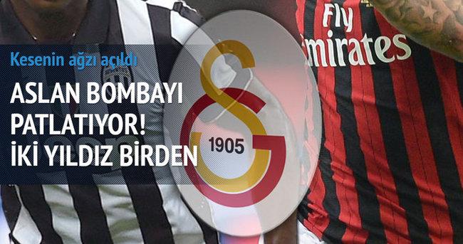 Galatasaray bombayı patlatıyor! İki yıldız birden