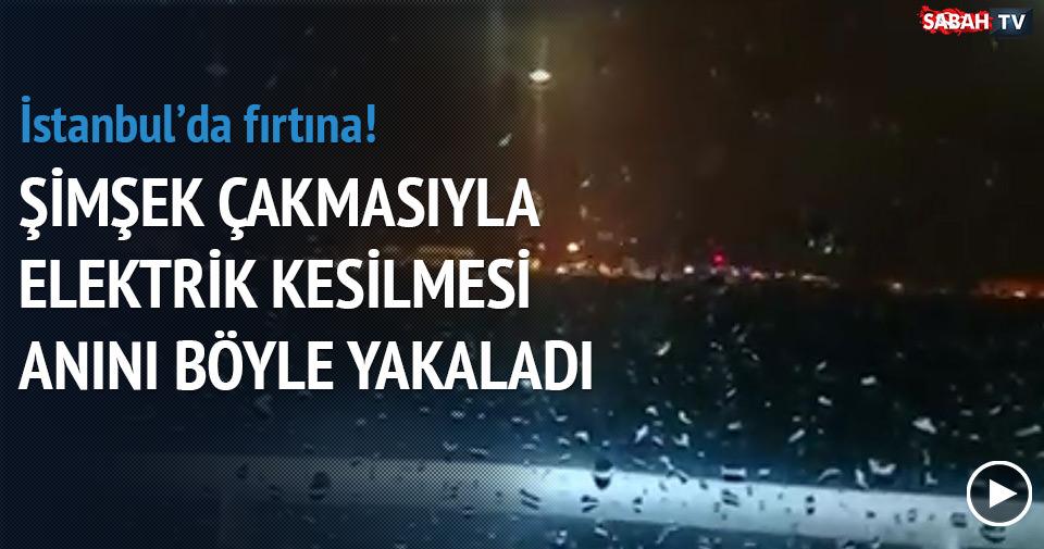 İstanbul'da elektriklerin kesilme anı kamerada