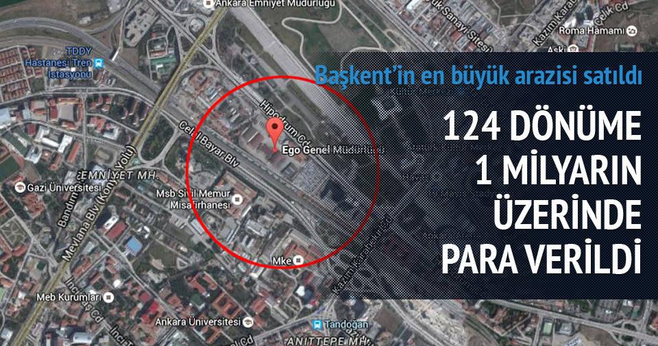 Ankara'nın en büyük arazisi satıldı