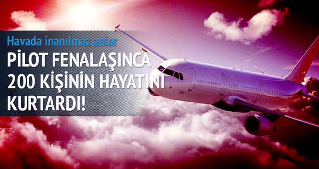 Pilot fenalaşınca uçağı yolcu indirdi