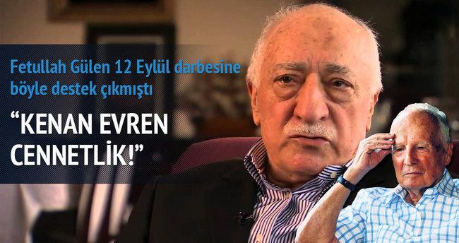 Fetullah Gülen'in 12 Eylülcüler'e destek yazısı