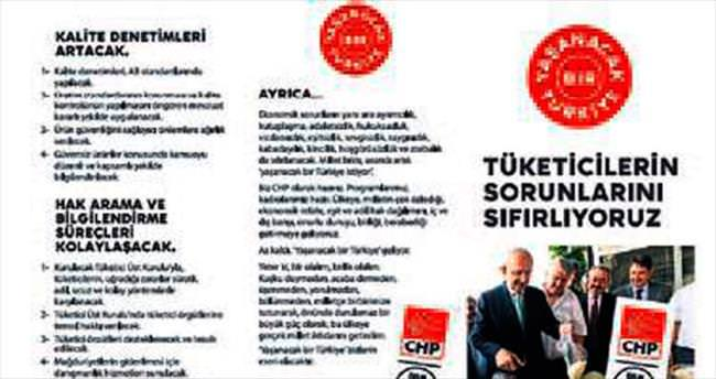 CHP broşürlerinde Hakan Tartan var