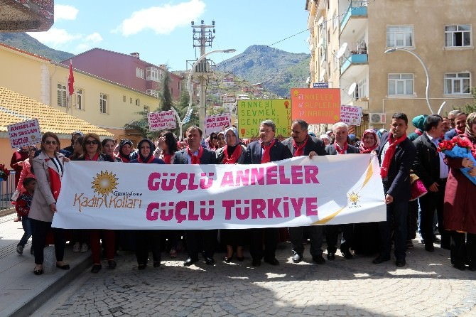 Gümüşhane'de 'Güçlü Anneler, Güçlü Türkiye' Yürüyüşü