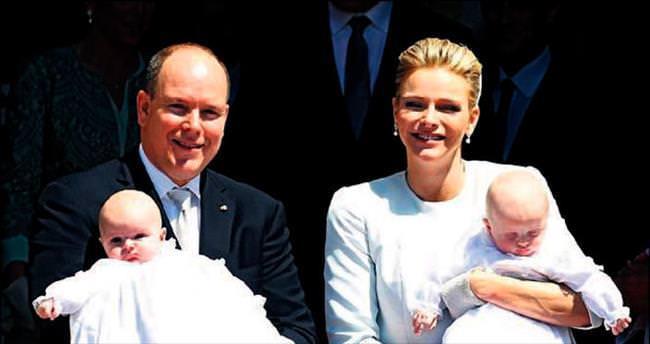 Monako'nun kraliyet ikizleri vaftiz edildi