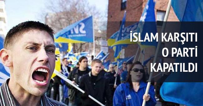 İsveç'te İslam karşıtı İsveçliler Partisi feshedildi