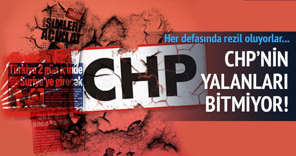 CHP'nin yalanları bitmek bilmiyor