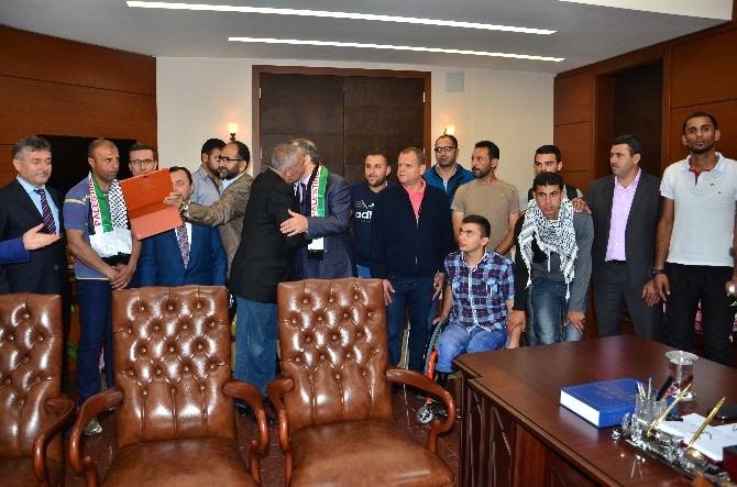 Filistin Engelli Voleybol Milli Takımından Vali Kaban'a Ziyaret