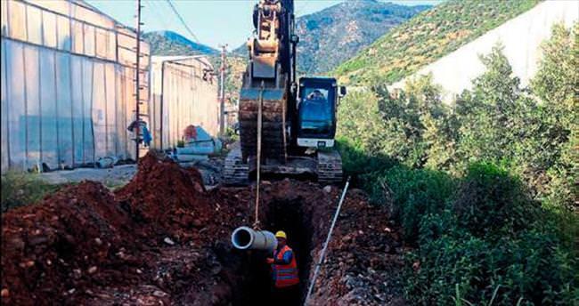 Bozyazı'da kanalizasyon yüzde 80 oranında döşendi