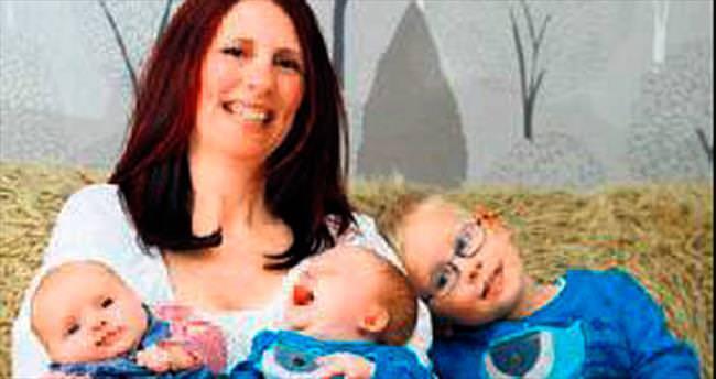 Üçüzlerden ikisini 3 yıl sonra doğurdu