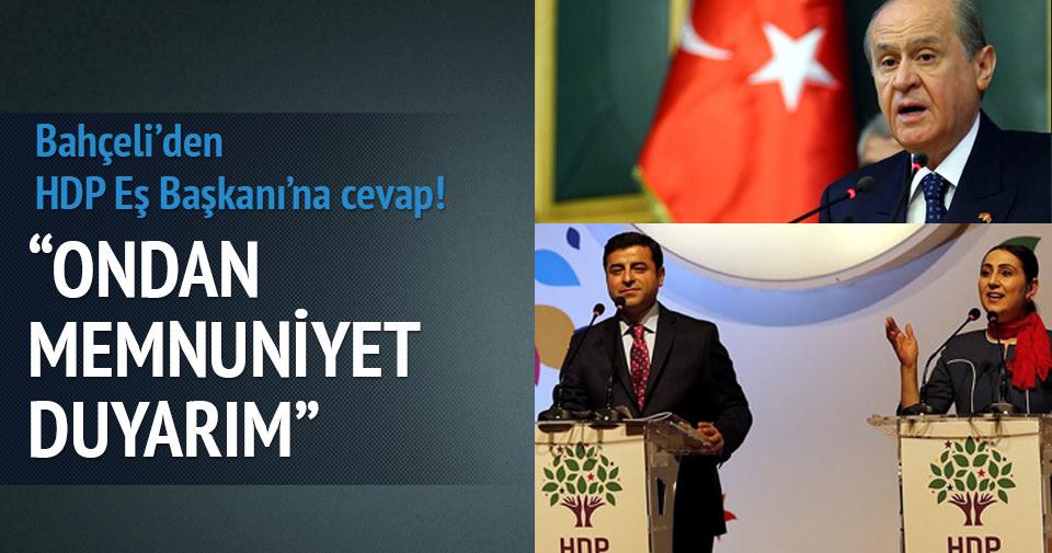 Bahçeli'den HDP'li Yüksekdağ'a 'ülkücü' yanıtı