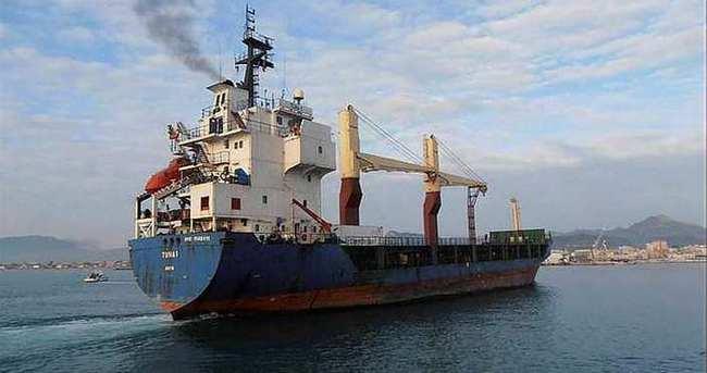 Vurulan gemi Türkiye'ye getirildi