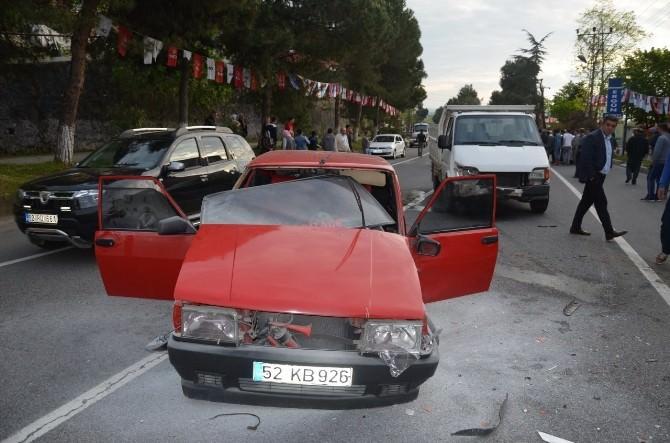 Fatsa'da Kaza: 2 Yaralı
