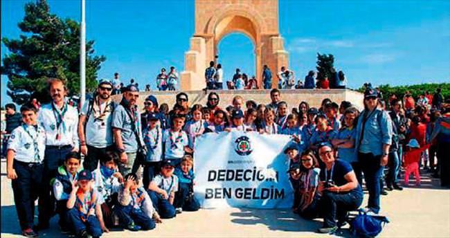 İzciler Çanakkale'de dedelerinin izinde