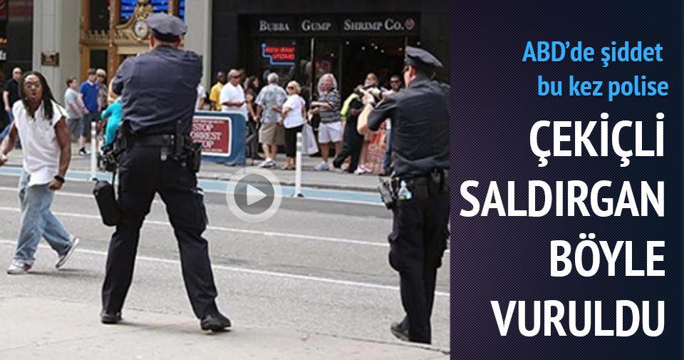 ABD'DE ÇEKİÇLİ SALDIRGAN POLİS TARAFINDAN VURULDU