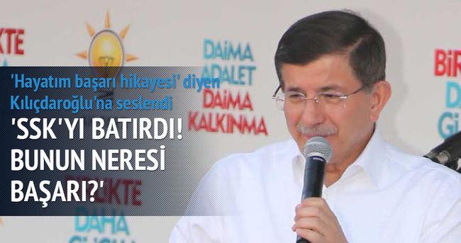 Başbakan Davutoğlu'ndan Kılıçdaroğlu'na: Bunun neresi başarı?