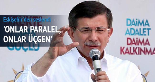 Başbakan Davutoğlu Eskişehir'de halka seslendi