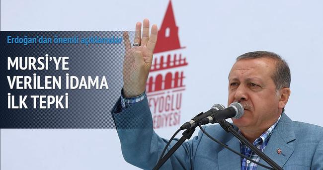 Erdoğan'dan Mursi'nin idamına ilk tepki