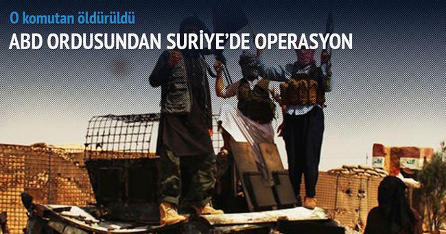ABD ordusundan Suriye'de operasyon