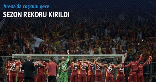 Galatasaray-Gençlerbirliği maçında taraftar rekoru