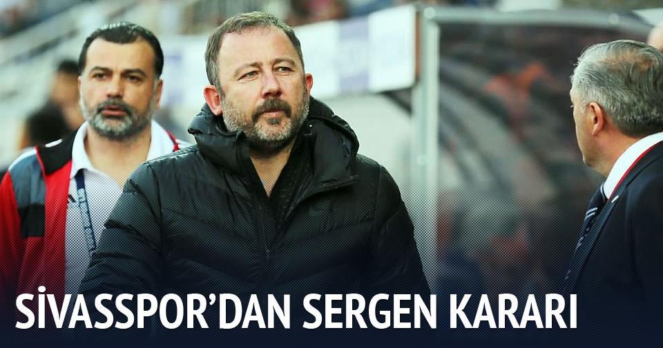 Sivasspor Sergen'le devam dedi