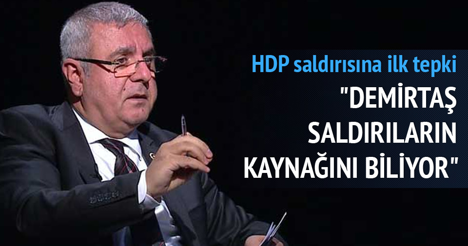 HDP saldırısına Metiner'den tepki