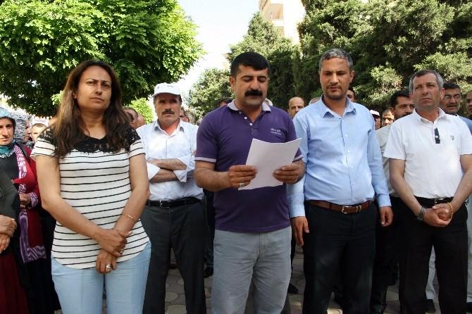 Silvan'da HDP'ye Yönelik Saldırılar Protesto Edildi