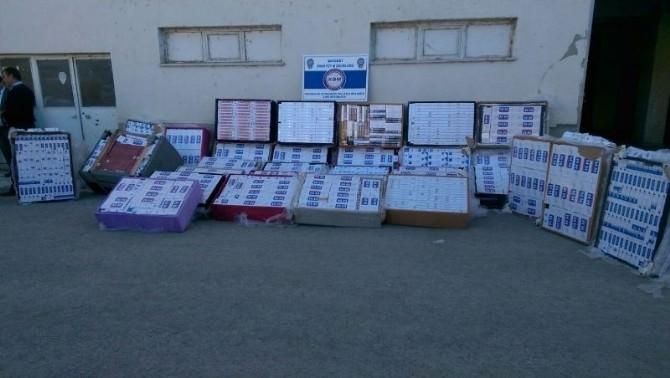 Bayburt'ta 31 Bin 291 Paket Kaçak Sigara Ele Geçirildi