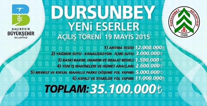 Dursunbey'de 35 Milyonluk Yatırımın Açılışı Yapılacak