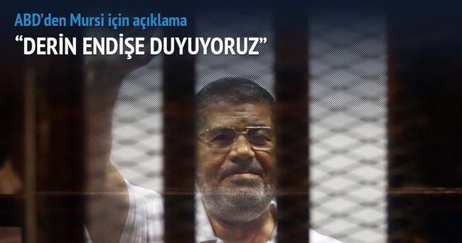 'ABD Mursi'ye verilen idam kararından kaygılı'