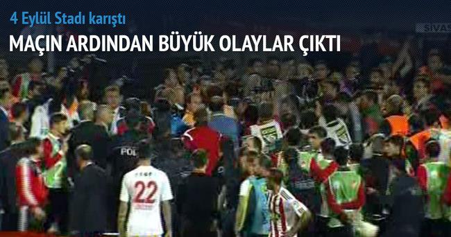Sivasspor-Galatasaray maçının ardından olaylar çıktı