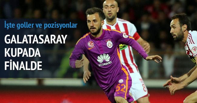 Galatasaray finale adını yazdırdı