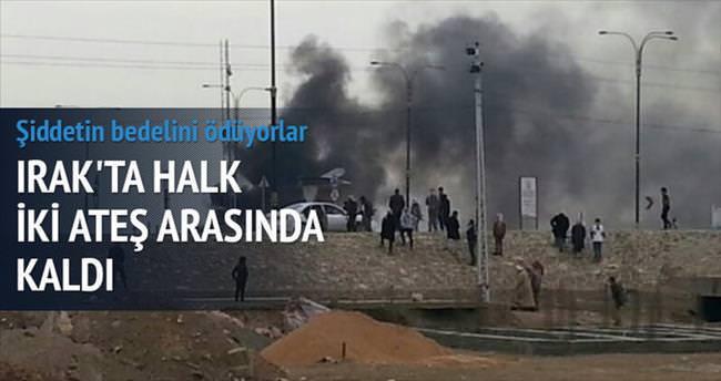 Şii milis ve IŞİD'den kaçıyorlar