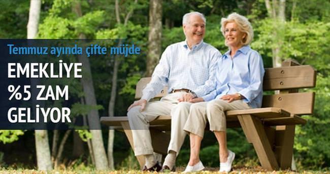 Emekliye yüzde 5 kesinti zammı
