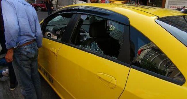 Taksim'de taksiciyi linç ettiler