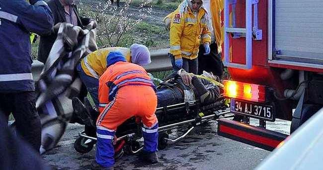 TEM yolunda kaza: 1 ölü,1 yaralı