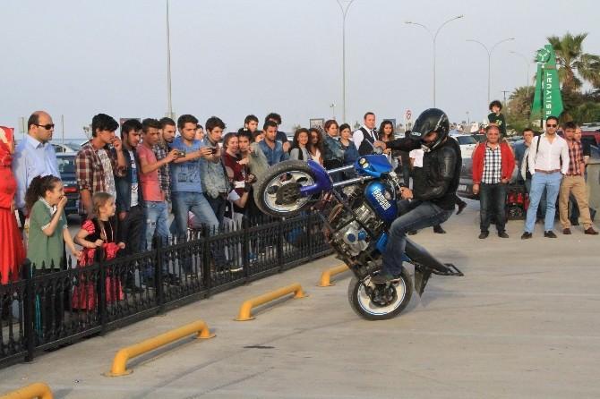 Yeşilyurt AVM'de Motosiklet Gösterisi