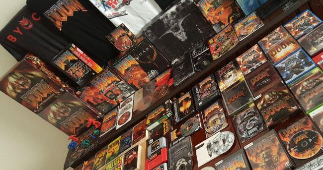 Dünyanın en büyük Doom oyun koleksiyonunu gördünüz mü?