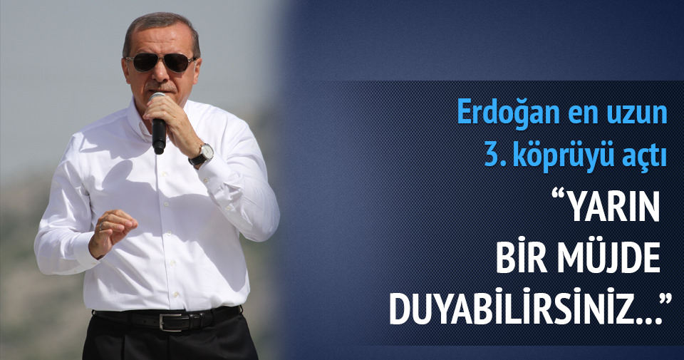 Erdoğan Nissibi Köprüsü'nün açılışını yaptı
