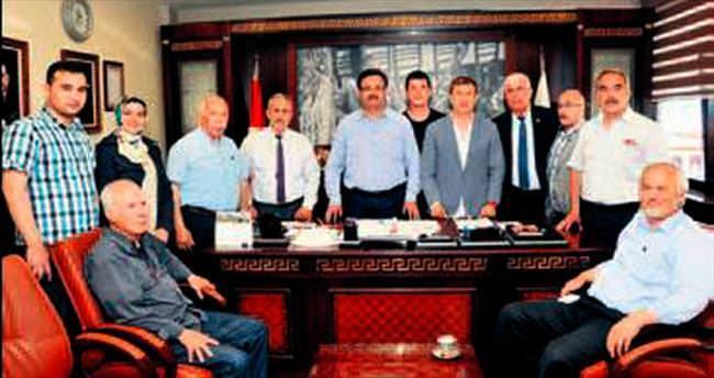 Tanju Çolak'tan başkan ziyareti