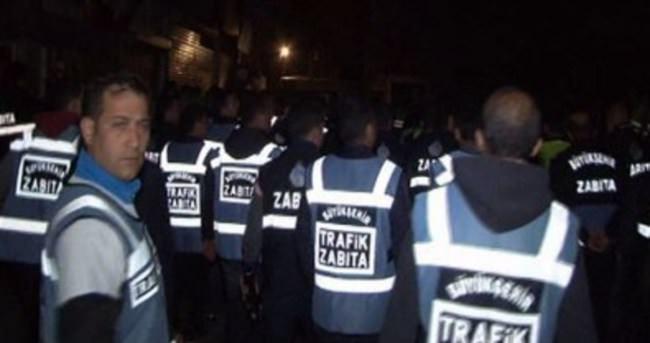 İstanbul zabıtasından gece yıkım operasyonu