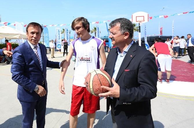 Canik'te Sokak Basketbolu Heyecanı Başladı
