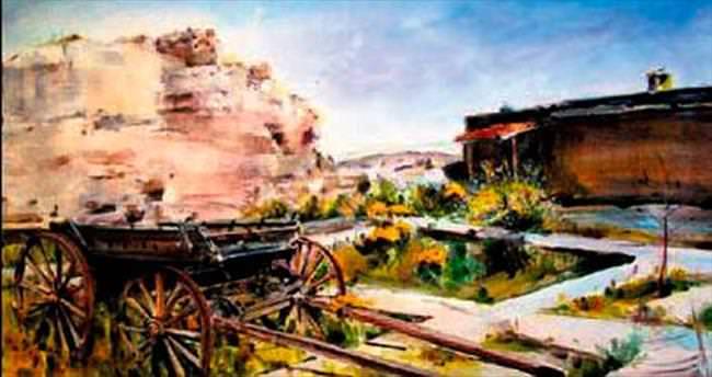 Yazan, Kapadokya'yı resmetti