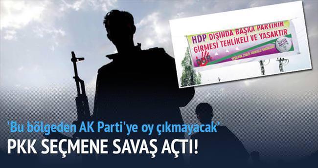 PKK'dan seçmene savaş tehdidi