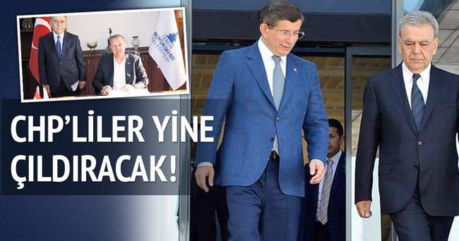 Aziz Kocaoğlu bu kez Davutoğlu'nu karşıladı