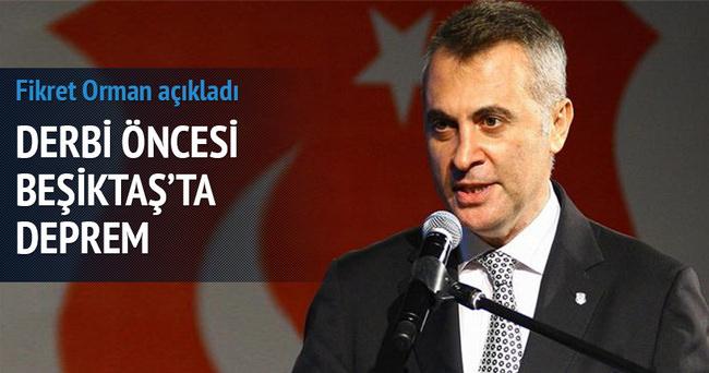 Beşiktaş'ta deprem! Fikret Orman açıkladı