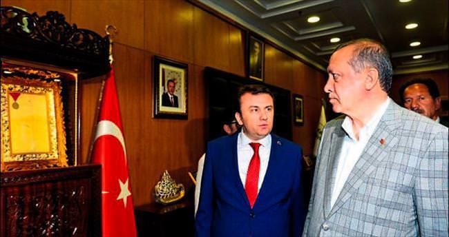 Başkan Erkoç hizmetleri Cumhurbaşkanı'na anlattı