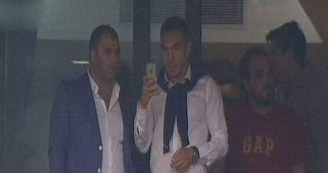 Galatasaray tribününde şaşırtan isim
